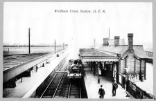 Waltham Cross Station looking south from the bridge 1920
