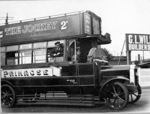 Waltham Cross Primrose Omnibus at York Road 1925
