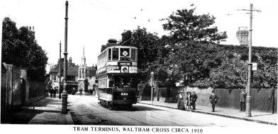 Waltham Cross Tram Terminal 1910