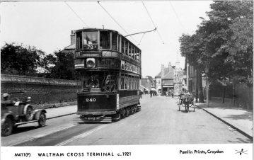 Waltham Cross Tram Terminal 1921