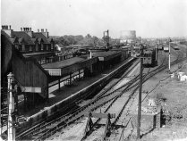Broxbourne Station looking north from the bridge c.1954