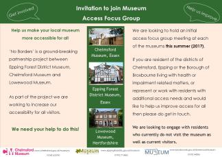 Museum Access Focus Group Invitation - Page1