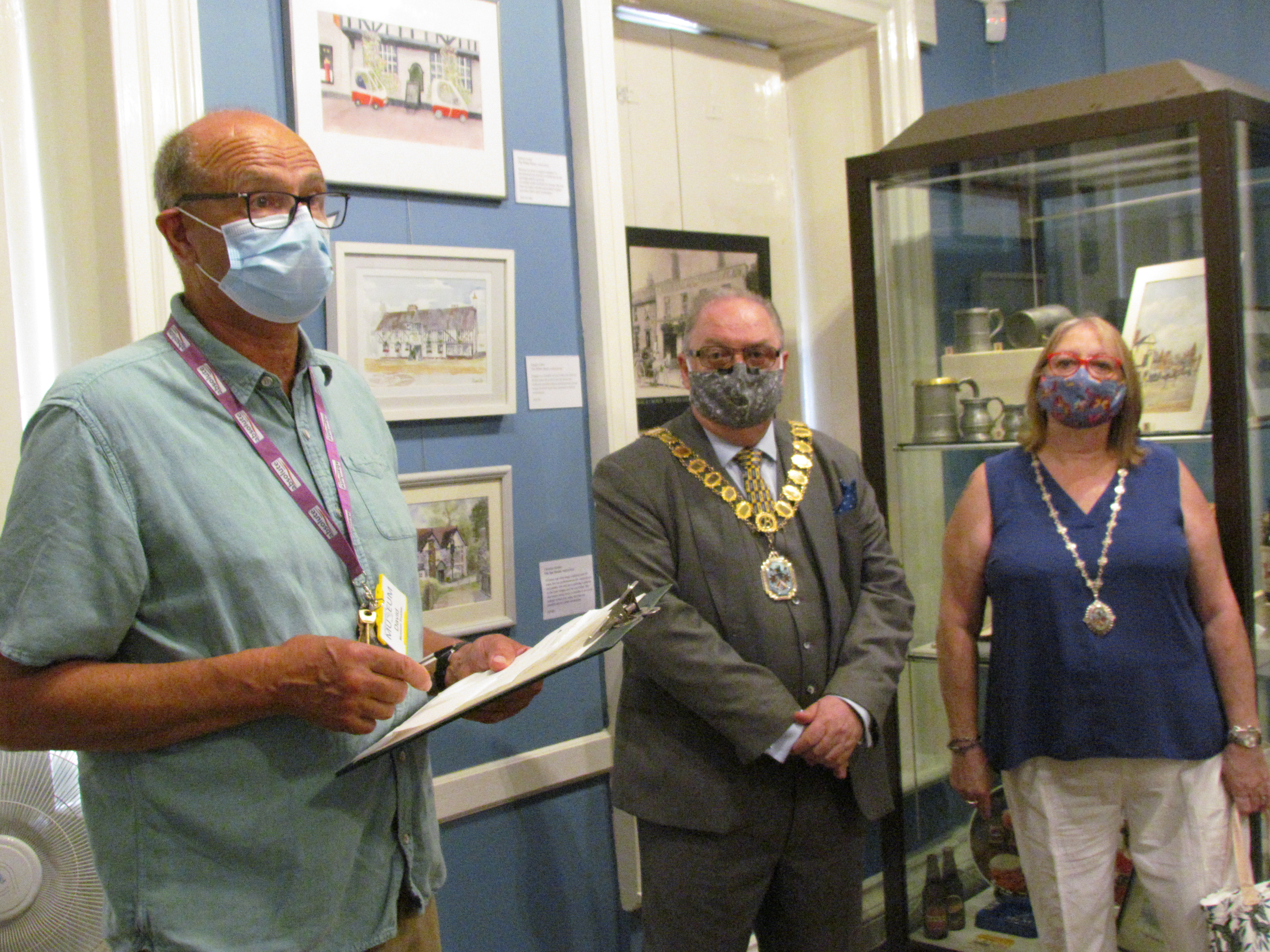 Chair of the Lowewood Museum Trust, David Dent welcomes the Mayor