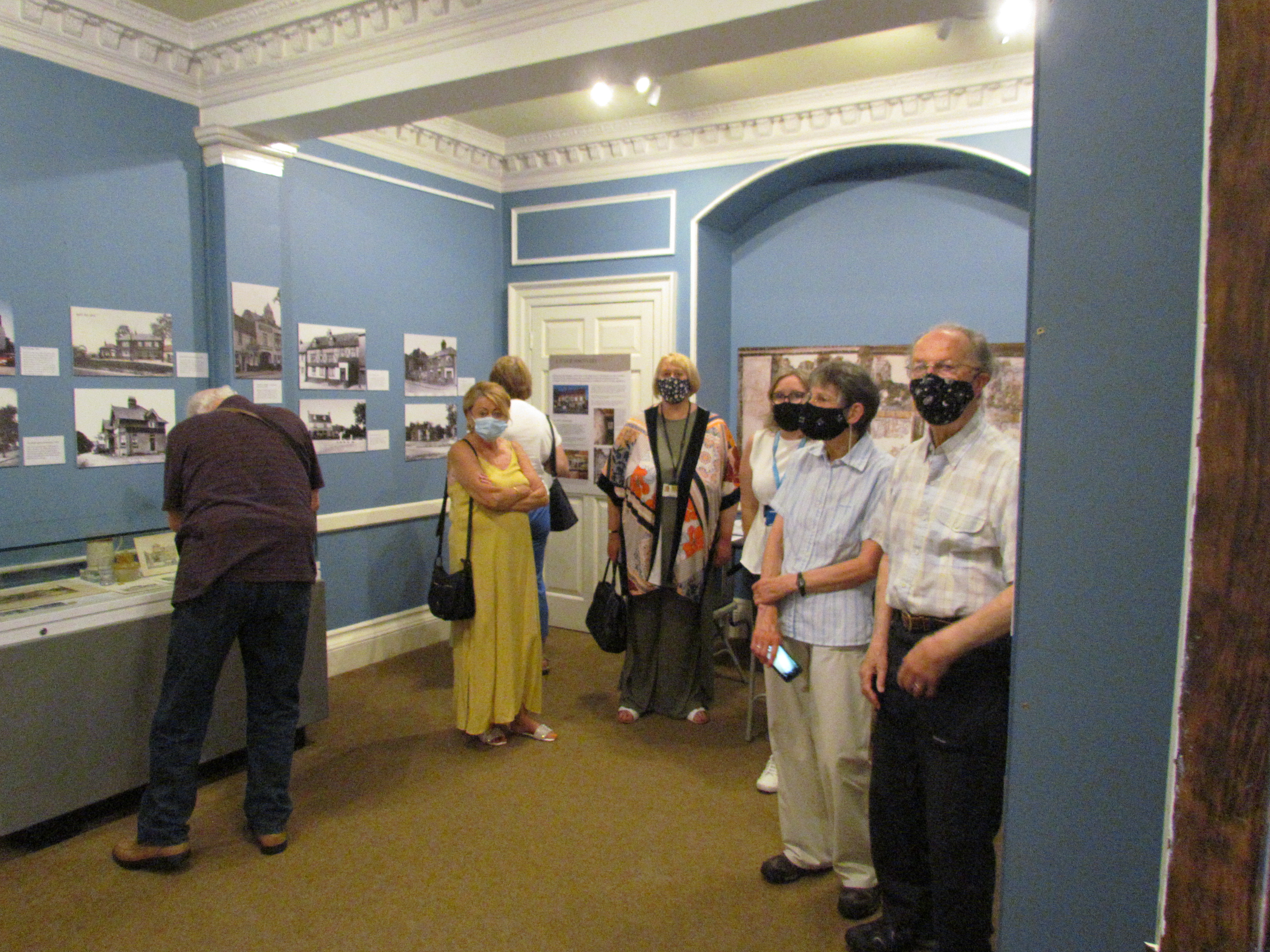 Visitors to the Tankards, Tales and Taverns exhibition