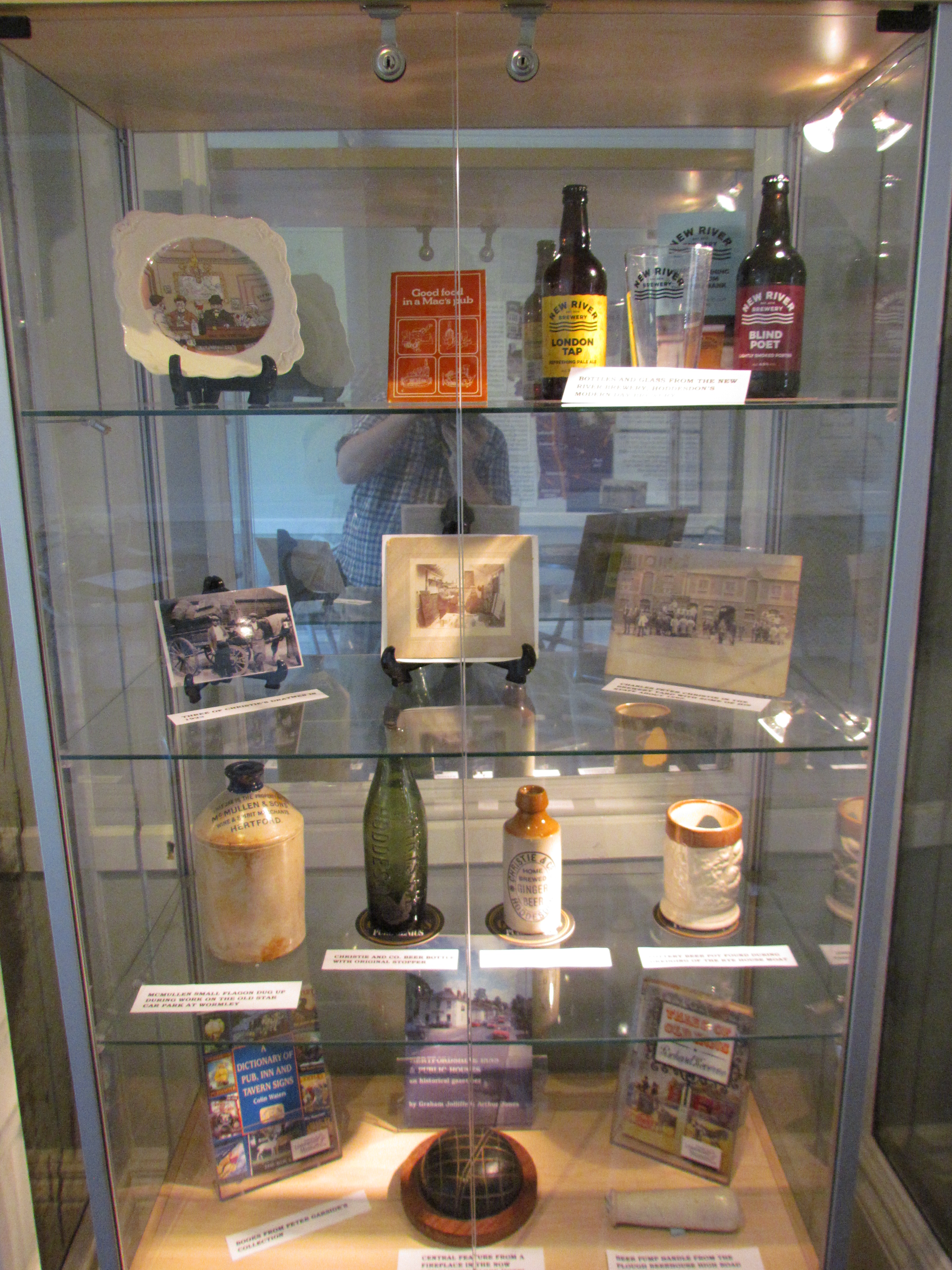 The Friends of Lowewood display cabinet