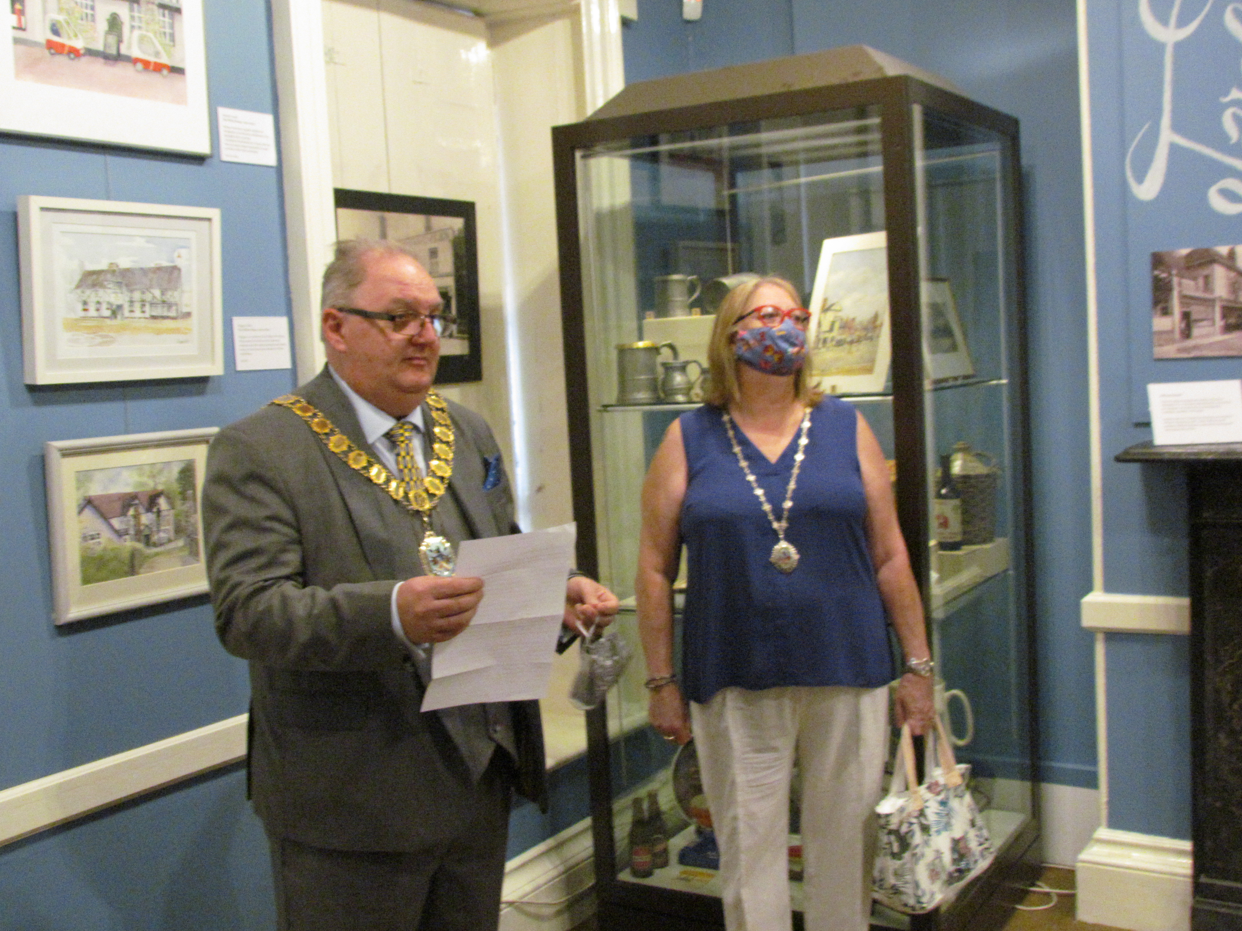 Mayor of Broxbourne - Cllr David Taylor opens the new exhibition