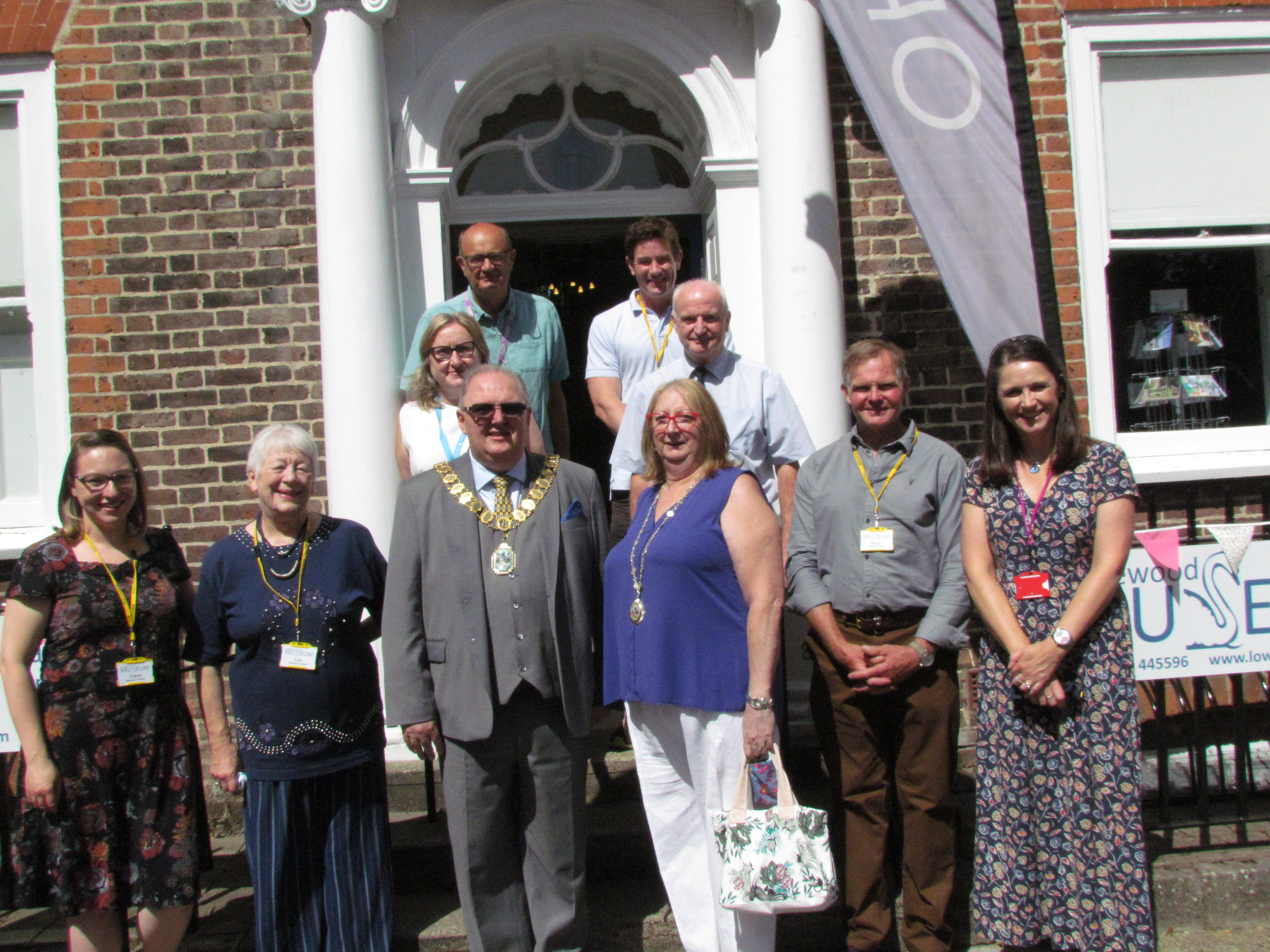 Some of the Lowewood Museum Trust board with the Mayor of Broxbourne