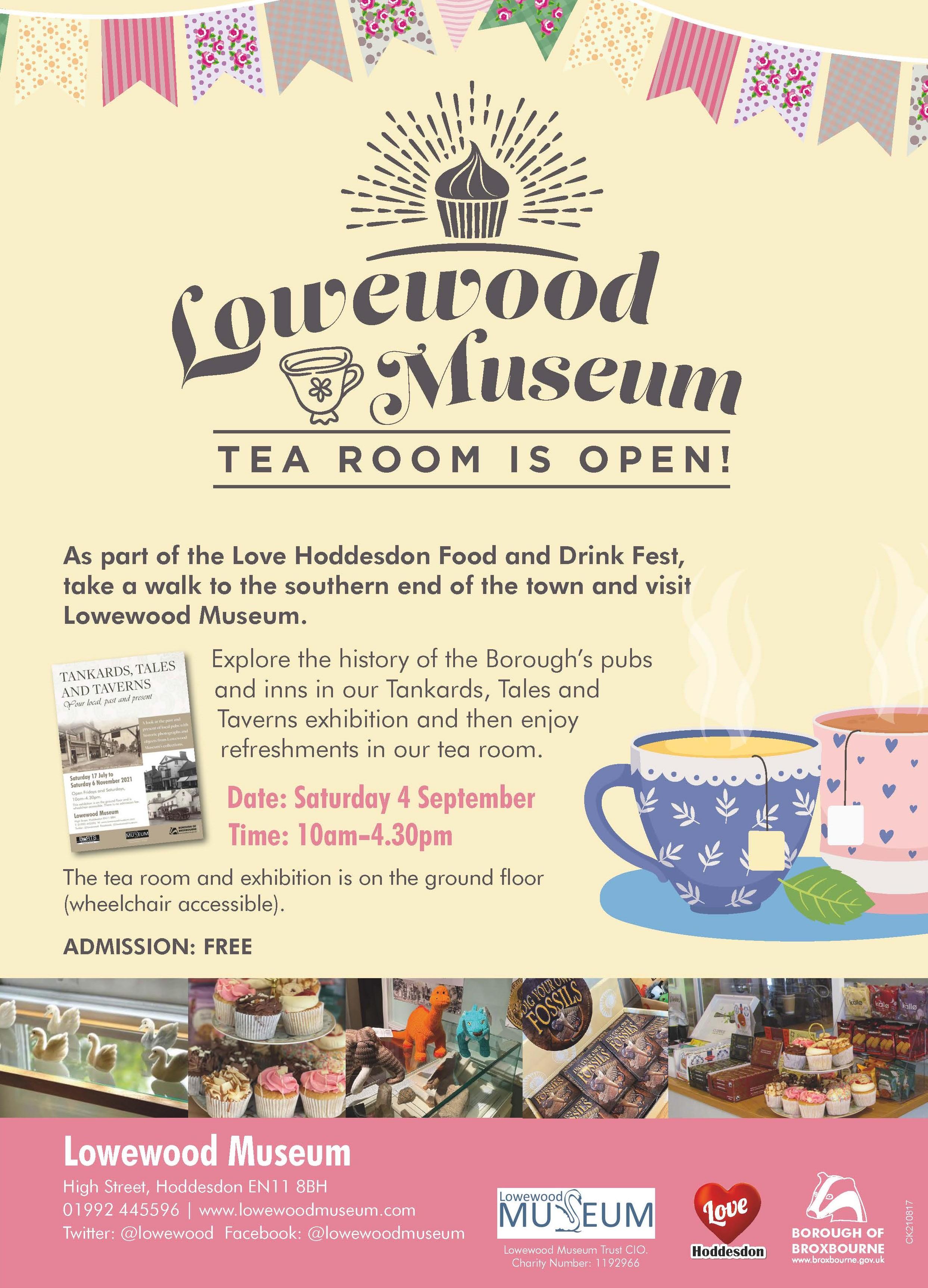 Lowewood Museum's tea room is open