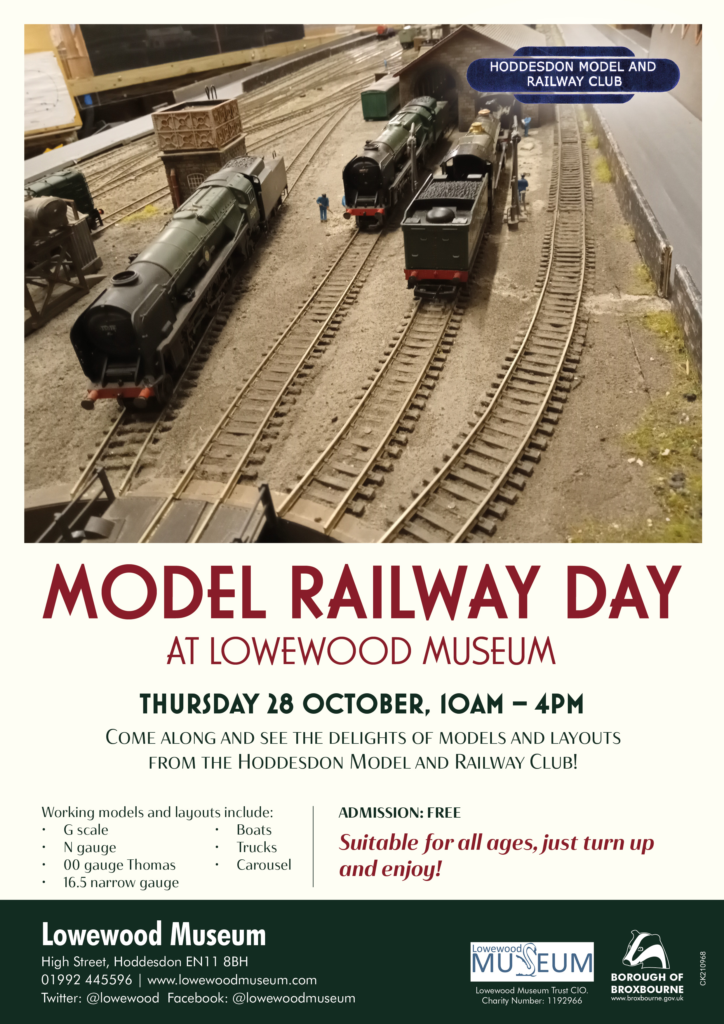 Model Railway Day at Lowewood Museum on Thursday 28 October 2021